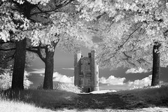Ever After (Russ Barnes Photography) Tags: summer blackandwhite tower mono nikon broadway monochromatic cotswolds infrared d800 720nm russbarnes nikkor70200mmvrii