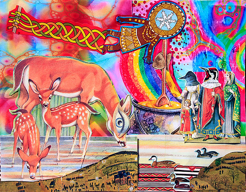 LARRY CARLSON, collage on paper, 2014.