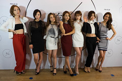 The 7 models at the launch of /In - (left to right) - LEE Hyunjung, KIM Siyeon, KIM Minyoung, JEONG Nari, LEE Miseon, SUN Jiwon and the Creative Director of /In (and a model herself) Hyejin Kim. (david5stones) Tags: girls party girl beauty fashion clouds shopping asian design models korea mein clothes online fashionista beauties modelling launchparty catwalk koreans onlineshopping zafferano koreanmodels oceanfinancialcentre kfans meinkr in