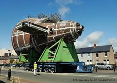 Submarine bits on the move. (Jill Hempsall) Tags: submarine barrow astuteclass