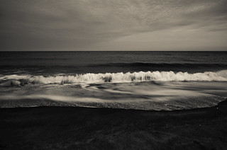 By the beach...