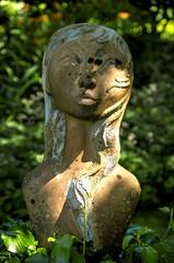 Shaded... (DawnWarrior) Tags: shadow sunshine statue pentax kr nationaltrust pembrokeshire shaded colbygardens dawnwarrior