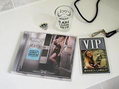 Miranda Lambert / Platinum (Jay Tilston) Tags: glass artwork shot cd pass cover vip fans pick lambert miranda ran platinum plectrum