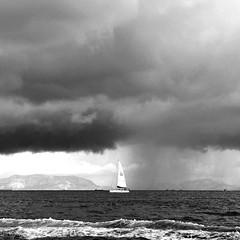 () Tags: light sea bw hk cloud monochrome sailboat mono blackwhite monotone