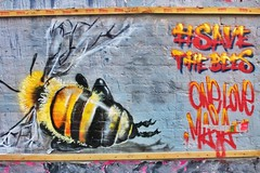 Shoreditch Street Art 2014 - 31 (Save the Bees) (gary8345) Tags: streetart london art graffiti bees protest bee urbanart shoreditch eastlondon 2014 236 londonist savethebees snapseed gmopesticidefreeart syngentadupontmonsanto