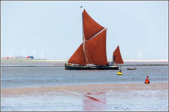 Thames Sailing Barge on the Swale (Explored 14/6/2014) (Smudge 9000) Tags: summer england thames sailing unitedkingdom marsh barge faversham 2014 oare oaremarshes mirosa