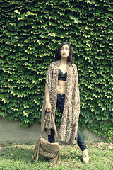 Delmi (Hey_Lee! Photography) Tags: summer portrait black senior girl fashion wall bag print photography model pretty top ivy clothes leopard crop cheetah shawl bandeau 2013 heylee delmi heyleephotography