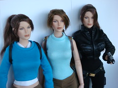 Three Lara Croft dolls (Airburst from Rus) Tags: doll lara croft tonner