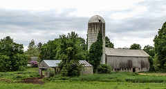 Barn in South Deerfield, MA (debbie rittall) Tags: barn driveby silo southdeerfieldma
