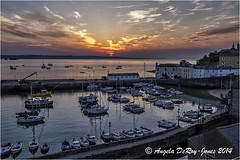Tenby Harbour Sunrise (angeladj1) Tags: boats harbour pembrokeshire tenby sunrist