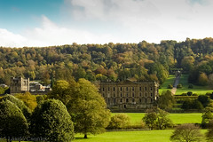 View of Chatsworth House (Melian, Grey Wanderer) Tags: 2005 old uk autumn green gardens peakdistrict sony duke palace tradition chatsworth prideandprejudice