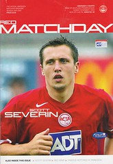 Aberdeen vs Heart Of Midlothian - 2004 - Cover Page (The Sky Strikers) Tags: aberdeen heart of midlothian hearts matchday severin red army premier league the official magazine bank scotland two pounds fifty