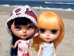 Karolin and Florka at Polish seaside