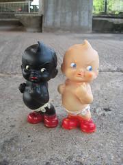 Bovver Babies (The Moog Image Dump) Tags: uk england baby cute vintage toy fight soft babies vinyl kawaii squeaker kewpie squeaky bovver combex