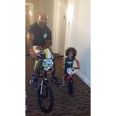 Like father, like son... when daddy rocks the #kttape, so does his little man. (Recover Faster, Play Harder) Tags: green copycat tape littleman pro likefatherlikeson kt bikers socute kttape protape legapp