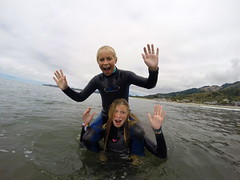 surfworks (coalphotos) Tags: california water kids sand surf waves marin surfing fisheye teaching northern wetsuits lessons stinson gnar gopro livewater shreddn
