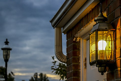 After sunset.. (M$ingh.) Tags: street door sunset sky house storm bulb clouds evening nikon dusk lamppost porch neighbourhood d7100 nikond7100