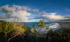 Rainbow Clouds - Byron Bay (dazza17 - DJ) Tags: panorama sun beach clouds boats shower coast rainbow surf coastline sunshower hdr byronbay