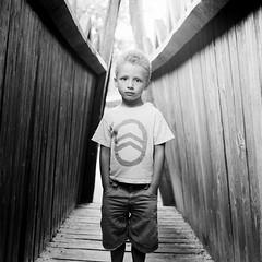 Bridge (Olivier David) Tags: bridge blackandwhite bw 120 6x6 film square kid kodak 400tx d76 analogphotography f28 75mm trix400 shootingfilm bronicac