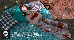 [WAI] Hana Maxi (Ji-Yun [WAI]) Tags: life red summer sun floral dress second forever trailer wai maxi floorplan summerfashion fireflys jinirvana