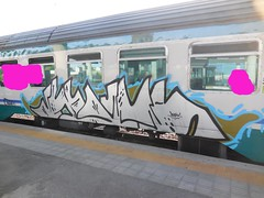 DSCN7506 (en-ri) Tags: train writing torino graffiti grigio ducky dreams anarchy azzurro nero anarchia