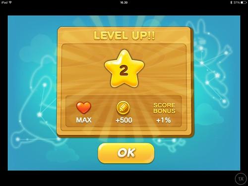 Mobile games Level Up: screenshots, UI