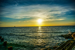Clearwater Beach Sunset (dbubis) Tags: sunset beach ship gulf florida pirate hdr clearwater bubis dbphoto nex6