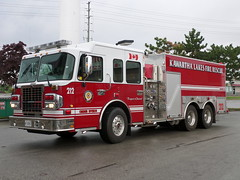 Kawartha Lakes Fire Rescue BRAND NEW UNIT 212 (Canadian Emergency Buff) Tags: new rescue ontario canada fire lakes erv brand department tanker spartan dept 212 unit pumper dependable kawartha metrostar pumpertanker klfd klfr