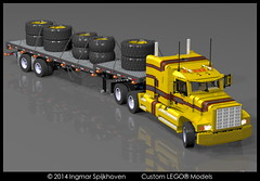 PICT06b (2LegoOrNot2Lego) Tags: wheel truck star us big king suspension rig western load mack global solid fifth peterbilt flatbed kenworth axle lode freightliner