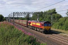 66213 Weaver Junction 15th July 2014 (John Eyres) Tags: docks junction jaguar weaver southampton halewood 66213 6o42