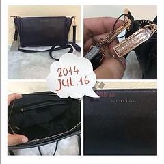 CHARLES & KEITH SAFFIANO HANDBAG กระเป๋าสะพายข้างสีดำ น่ารัก น่าใช้ หนัง saffiano ดูดี เรียบสวย สะพายไปวันเบาๆ ได้เลยจ้ะ Size : 25x16x9 cm