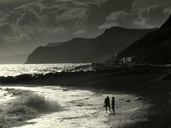 West Beach, West Bay (jonnorthf64) Tags: sea blackandwhite white seascape black waves dorset jurassic bridport westbay jurassiccoast broadchurch fuji660exr
