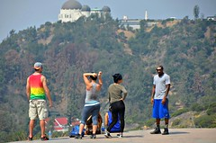 Hike Break (Pedestrian Photographer) Tags: california park greek los theater photographer theatre angeles sunday group gang may pedestrian southern observatory socal hikers griffith busted overlooking ribbet 2014 uncandid dsc5423 pedestrianphotographer dsc5423b