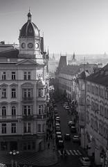 Praha (Sabif24) Tags: praha prague hradčany tower žižkov hrad castle 2014 bw blackandwhite bird monochrome outdoor nikon nikond3100 d3100 cz czech czechrepublic charlesbridge