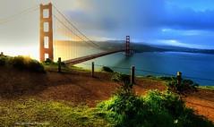 The Golden Gate is Golden (Rex Montalban Photography) Tags: rexmontalbanphotography goldengatebridge sanfrancisco california sunrise golden