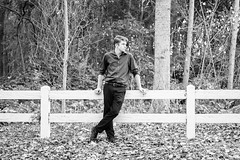Alex Phase II-20 (shanolee99) Tags: seniorgraduate seniorportrait fence portraiture blackandwhitephotography whitefence youngman monochrome solano county cordelia california