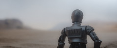 echoes of reality (jooka5000) Tags: starwars actionfigure cinematic u3po toy desert reality realism cinema frame scene diorama myphotography imadethis incamera droid echoesofreality dof camera work