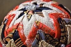 Temari Ball (Amirtha :)) Tags: macromondays macro clothtextile temari japanese craft japanesefabric hmm