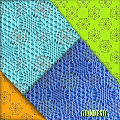 GEODESIC_Collection (vannina_sf) Tags: triangles geodesic pattern sphere hexagons geometric graphic collection fabric spoonflower blue green orange stars