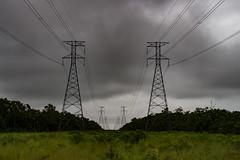 132 KV Powerlines (betadecay2000) Tags: darwin australia austral australien aussie oz australie regen rain powerline powerlines hochspannung freileitung power line overhead pylon mast maste masten gittermast highvoltage hochspnnung powerpole pole