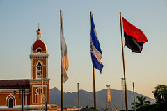 Flags (NateJPhotography) Tags: granada nicaragua park sandino cathedral