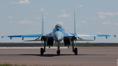 Kazakhstan Air Force Sukhoi Su-27M2 16 Yellow, KADEX-2016, Astana Kazakhstan (Jeroen.B) Tags: 2016 airport defence expo kadex kazachstan kazakhstan uacc қазақстанның kadex2016 astana international air force sukhoi su27m2 16 su27 27 ye yellow