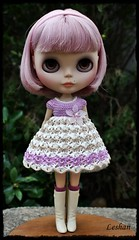 (GONE) New dress for Neo Blythe (Leshan1) Tags: leshan leshancrochet dress leshandress blythe blythecrochet blythedress lilac blytheoutfit crochet