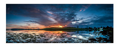 Sunrise at Ballymorran (RonnieLMills) Tags: sunrise early morning sun dawn ballymorran cottage strangford lough high tide killinchy county down northern ireland panorama wide angle landscape nikon d90
