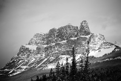 Castle Mountain, Banff National Park, AB (nick_russill) Tags: mountain snow canada castlemountain