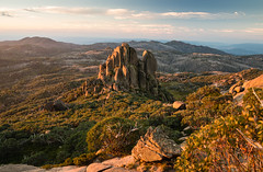The Cathedral Mt Buffalo Sunset (laurie.g.w) Tags: sunset thecathedral mtbuffalo victoria australia highcountry nationalpark rock landscape