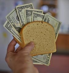🍞 Bringing Home The Bread! 🍞 (✪☺✿One Week Left!✿☺✪) Tags: flickrfriday representation word bread money synecdoche