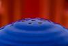 Fiestaware (NedraI) Tags: candlestickholder fiestaware macro candy blueandorange balance saltandpeppershaker vintage round holes fiesta