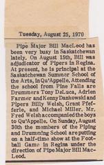 Stirling Pipe Band Pine Falls Newspaper Articles-11 (Hugh Peden) Tags: stirling pipe band pine falls manitoba major william bill macleod