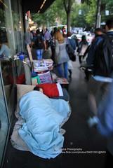 Melbourne, poverty (blauepics) Tags: australia australien landscape landschaft victoria melbourne city stadt road strasse poverty armut social sozial life leben